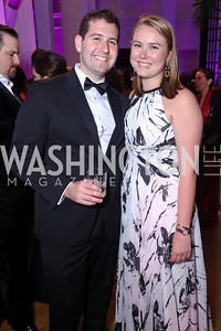 Nick Fineman, Summer Delaney. Photo by Tony Powell. 2017 WHCD MSNBC After Party. OAS. April 29, 2017