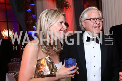 Susan Farkas, Howard Fineman. Photo by Tony Powell. 2017 WHCD MSNBC After Party. OAS. April 29, 2017