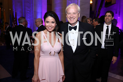 Angie Goff, Chris Matthews. Photo by Tony Powell. 2017 WHCD MSNBC After Party. OAS. April 29, 2017