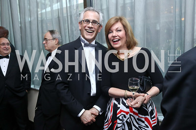 David Corn, Susan Page. Photo by Tony Powell. 2017 WHCD Pre-parties. Hilton Hotel. April 29, 2017