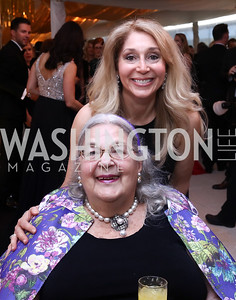 Esther Coopersmith, Janet Pitt. Photo by Tony Powell. 2017 WHCD Pre-parties. Hilton Hotel. April 29, 2017
