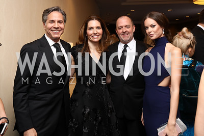 Tony Blinken and Evan Ryan, Richard Powell, Emily Shippee. Photo by Tony Powell. 2017 WHCD Pre-parties. Hilton Hotel. April 29, 2017