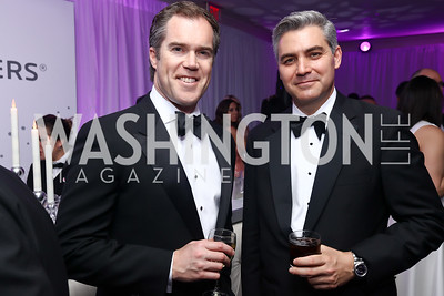 NBC News' Peter Alexander, CNN's Jim Acosta. Photo by Tony Powell. 2017 WHCD Pre-parties. Hilton Hotel. April 29, 2017