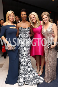 Fox News' Shannon Bream, Harris Faulkner, Janice Dean, and Elizabeth Prann. Photo by Tony Powell. 2017 WHCD Pre-parties. Hilton Hotel. April 29, 2017