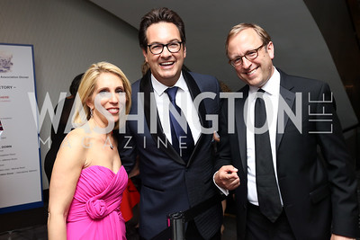 Dana Bash, Marc Adelman, ABC News' Jon Karl. Photo by Tony Powell. 2017 WHCD Pre-parties. Hilton Hotel. April 29, 2017