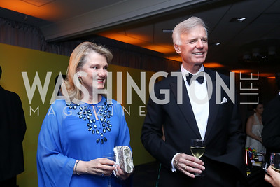 Genny and Fred Ryan. Photo by Tony Powell. 2017 WHCD Pre-parties. Hilton Hotel. April 29, 2017