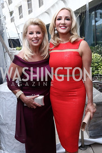 ABC's Rita Cosby, FOX Business Anchor Jamie Colby. Photo by Tony Powell. 2017 WHCD Pre-parties. Hilton Hotel. April 29, 2017