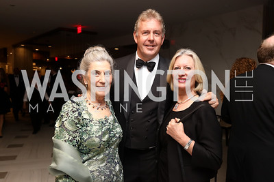Barbie Allbritton, British Amb. Kim Darroch and Lady Darroch. Photo by Tony Powell. 2017 WHCD Pre-parties. Hilton Hotel. April 29, 2017