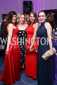 Christine Baratta, Claire Tonneson, Colby Hochmuth, Samantha Boyd. Photo by Tony Powell. 2017 WHCD Pre-parties. Hilton Hotel. April 29, 2017