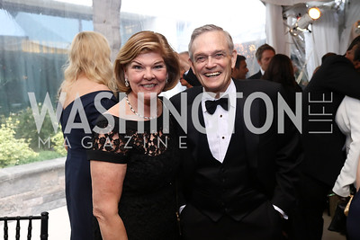 Ann Compton and Bill Hughes. Photo by Tony Powell. 2017 WHCD Pre-parties. Hilton Hotel. April 29, 2017