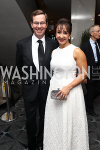 Robert Allbritton, Elena Allbritton. Photo by Tony Powell. 2017 WHCD Pre-parties. Hilton Hotel. April 29, 2017