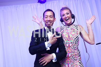 Ben Chang, Anne Hamilton. Photo by Tony Powell. 2017 WHCD Pre-parties. Hilton Hotel. April 29, 2017