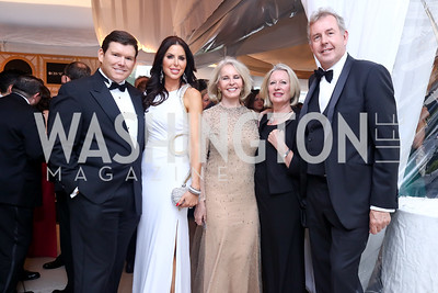 Bret Baier, Amy Baier, Sally Quinn, Vanessa Darroch and British Amb. Kim Darroch. Photo by Tony Powell. 2017 WHCD Pre-parties. Hilton Hotel. April 29, 2017