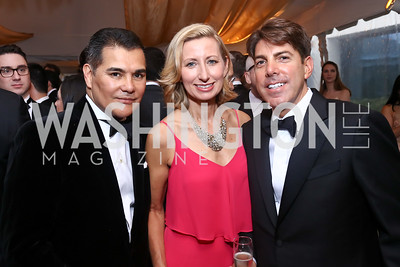 Xavier Equihua, Caroline and Jon Decker. Photo by Tony Powell. 2017 WHCD Pre-parties. Hilton Hotel. April 29, 2017