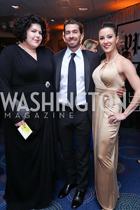 Zara Korutz, Bill Eggers and Morgann Rose. Photo by Tony Powell. 2017 WHCD Pre-parties. Hilton Hotel. April 29, 2017