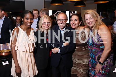 Michele Leiby, Lynn Sweet, Richard Leiby, Linda Roth, Edie Emery. 2017 WHCD Toast to the 1st Amendment. April 28, 2017