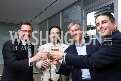 Craig Maasaz, RealClear Politics DC Bureau Chief Carl Cannon, Jim McGreevy, Steve Danon. 2017 WHCD Toast to the 1st Amendment. April 28, 2017