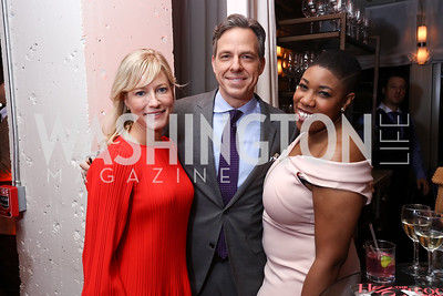 Jake and Jennifer Tapper, Symone Sanders. Photo by Tony Powell. 2017 WHCD United Talent Agency Event. Fiola Mare. April 28, 2017