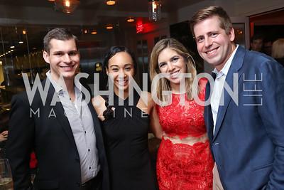 Michael Moroney, Francesca Chambers, Judy Kurtz, Scott Brodbeck. Photo by Tony Powell. 2017 WHCD United Talent Agency Event. Fiola Mare. April 28, 2017