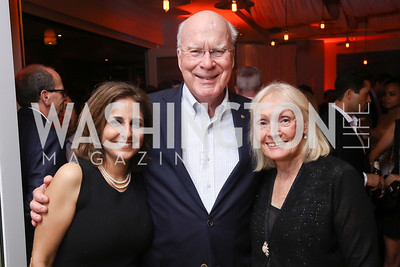 Neera Tanden, Sen. Patrick Leahy and Marcelle Leahy. Photo by Tony Powell. 2017 WHCD United Talent Agency Event. Fiola Mare. April 28, 2017