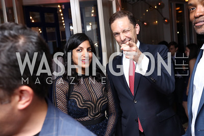 Parita and Amb. Peter Selfridge. Photo by Tony Powell. 2017 WHCD United Talent Agency Event. Fiola Mare. April 28, 2017