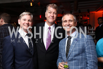 Andrew Oros, Steve Clemons, Malcolm Brown. Photo by Tony Powell. 2017 WHCD United Talent Agency Event. Fiola Mare. April 28, 2017
