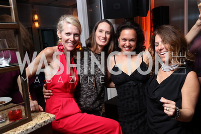 Jennifer Vinson, Lyn Stout, Melissa Torres, Nicole Boxer. Photo by Tony Powell. 2017 WHCD United Talent Agency Event. Fiola Mare. April 28, 2017