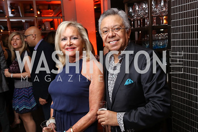 Debbie Sigmund, Angel Saltos. Photo by Tony Powell. 2017 WHCD United Talent Agency Event. Fiola Mare. April 28, 2017
