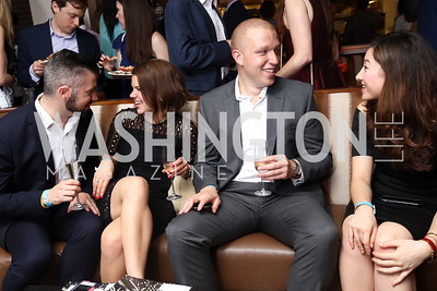 Caleb Campbell, Kelsey Carroll, Eddie Witcher, Tori Otten. Photo by Tony Powell. 2017 WHCD United Talent Agency Event. Fiola Mare. April 28, 2017