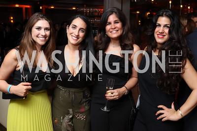 Tara Palmeri, Catherine Trifiletti, Maha Hakki, Dannia Hakki. Photo by Tony Powell. 2017 WHCD United Talent Agency Event. Fiola Mare. April 28, 2017