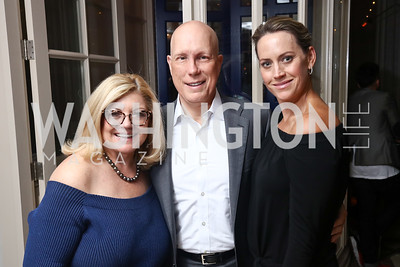 Gloria Dittus, NRF CEO Matthew and Allison Shay. Photo by Tony Powell. 2017 WHCD United Talent Agency Event. Fiola Mare. April 28, 2017