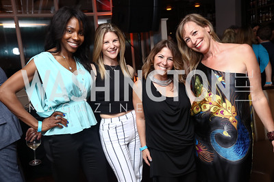 Desiree Clinton, Dorothy Stein, Nicole Boxer, Ingrid Zimmer. Photo by Tony Powell. 2017 WHCD United Talent Agency Event. Fiola Mare. April 28, 2017