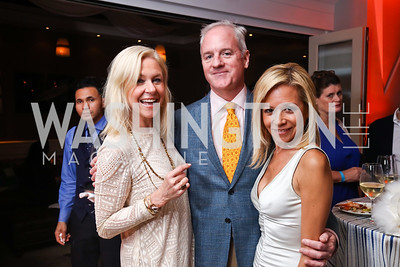 Julie Chase, Peter and Eve O'Toole. Photo by Tony Powell. 2017 WHCD United Talent Agency Event. Fiola Mare. April 28, 2017