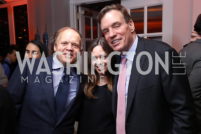 Mark and Sally Ein, Sen. Mark Warner. Photo by Tony Powell. 2017 WHCD United Talent Agency Event. Fiola Mare. April 28, 2017