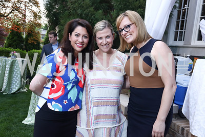 Mary Kathryn Steel, Kiki Burger, Anna Palmer. Photo by Tony Powell. WHCD Women in Journalism. Dittus Residence. April 27, 2017