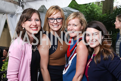 Katie Grant, Anna Palmer, Rebecca Haller, Mariel Saez. Photo by Tony Powell. WHCD Women in Journalism. Dittus Residence. April 27, 2017