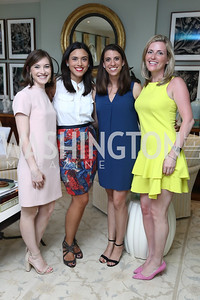 Sarah Lindner, Marisa Kashino, Rebecca McFarland, Susan Farkas. Photo by Tony Powell. WHCD Women in Journalism. Dittus Residence. April 27, 2017
