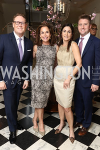 Timothy Lowery, Melissa Moss, Jen Haber, Patrick Chamberlain. Photo by Tony Powell. WHCD Women in Journalism. Dittus Residence. April 27, 2017