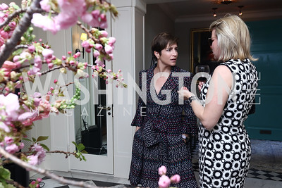 Caroline Nolan, Cathy Merrill Williams. Photo by Tony Powell. WHCD Women in Journalism. Dittus Residence. April 27, 2017