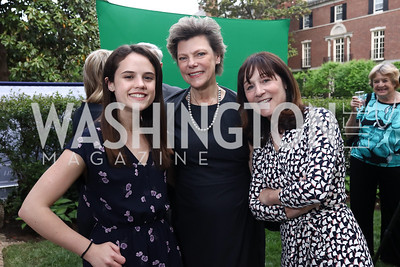 Kate Hamilton, Cokie Roberts, Jane Mayer. Photo by Tony Powell. WHCD Women in Journalism. Dittus Residence. April 27, 2017