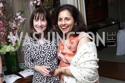 Jane Mayer, Meena Ahamed. Photo by Tony Powell. WHCD Women in Journalism. Dittus Residence. April 27, 2017