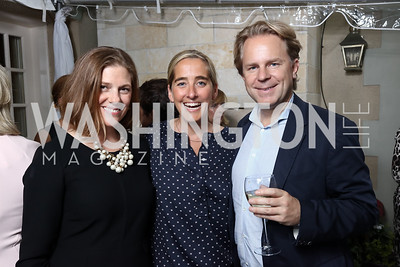 Emily Lenzner, Kat Cusani, Justin Smith. Photo by Tony Powell. WHCD Women in Journalism. Dittus Residence. April 27, 2017