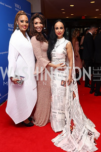 Fox News' Santita Jackson, Angela McGlowan, and Dr. Nina Radcliff. Photo by Tony Powell. 2017 WHCD Pre-parties. Hilton Hotel. April 29, 2017