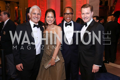Patrick Steele and Lee Satterfield, Jonathan Capehart and Nick Schmit. Photo by Tony Powell. 2017 WHCD MSNBC After Party. OAS. April 29, 2017
