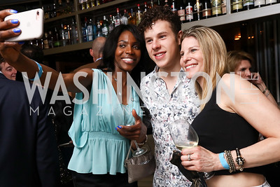 Desiree Clinton, Nolan Gould, Dorothy Stein. Photo by Tony Powell. 2017 WHCD United Talent Agency Event. Fiola Mare. April 28, 2017