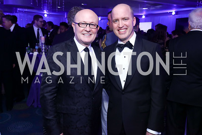 Franco Nuschese, WHC President Jeff Mason. Photo by Tony Powell. 2017 WHCD Pre-parties. Hilton Hotel. April 29, 2017