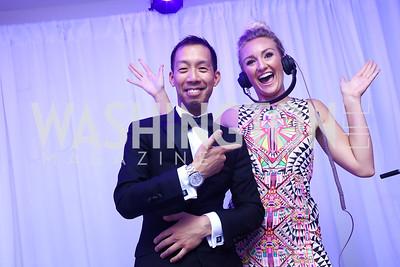 Ben Chang, Anne Hamilton. Photo by Tony Powell. 2017 WHCD Pre-parties. Hilton Hotel. April 29, 2017