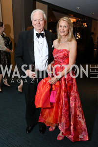 """Guillermo and Cecilia Schultz. Photo by Tony Powell. 2017 WNO """"Aida"""" Opening Night Dinner. Kennedy Center. September 10, 2017"""