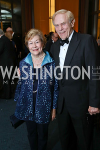 "Elizabeth and Jan Lodal. Photo by Tony Powell. 2017 WNO ""Aida"" Opening Night Dinner. Kennedy Center. September 10, 2017"