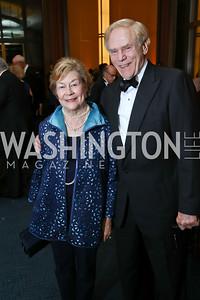 "Elizabeth and Jan Lodal. Photo by Tony Powell. 2017 WNO ""Aida"" Opening Night Dinner. Kennedy Center. September 10, 2017"